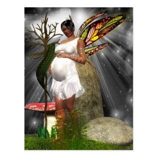 Cartão grávido da fada do afro-americano cartão postal