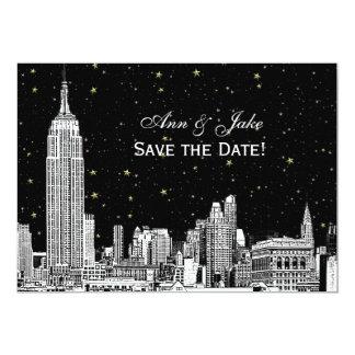 Cartão Gravura em àgua forte DIY BG da skyline 01 de NYC