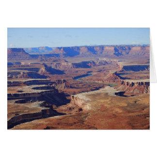 Cartão Green River, parque nacional de Canyonlands,