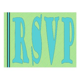 Cartão-GreenAqua de RSVP Cartão Postal