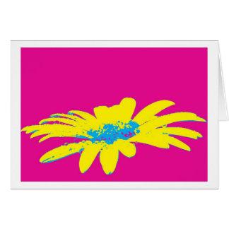 Cartão Greeting card daisy flowers pop espécie