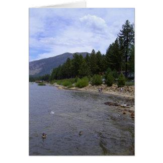 Cartão *Greeting da coleção sul de Lake Tahoe