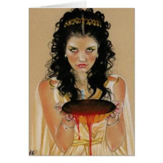 Cartão grego da deusa de Circe