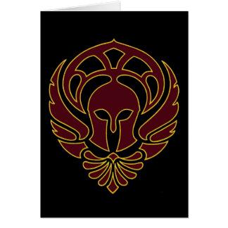 Cartão grego do guerreiro