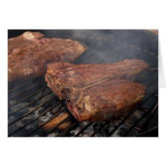 Cartão grelhado da carne de vaca