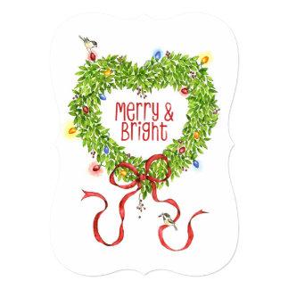 Cartão Grinalda alegre & brilhante