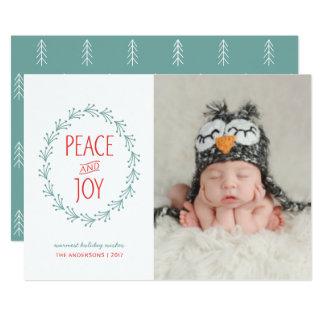 Cartão Grinalda da baga de Boho do Natal da aguarela da