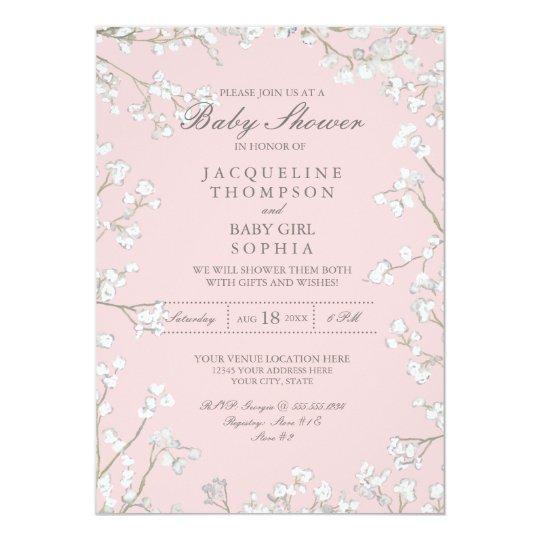 Cartão Grinalda da flor da respiração do bebê do chá dos