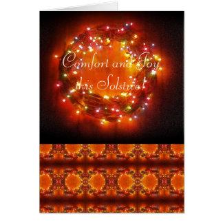 Cartão Grinalda das luzes do país das fadas do solstício