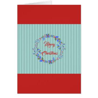 Cartão Grinalda do Natal