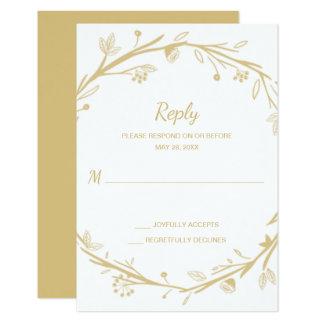 Cartão Grinalda misturada do ouro das famílias que