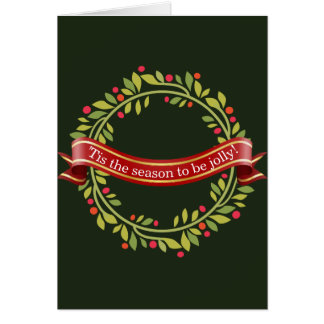 Cartão Grinalda Tis do Natal a estação