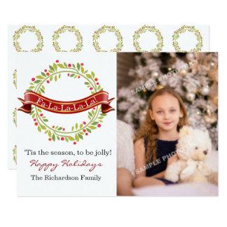 Cartão Grinalda Tis do Natal a foto da estação