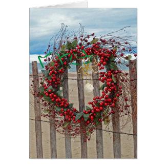 Cartão Grinalda tropical do Natal
