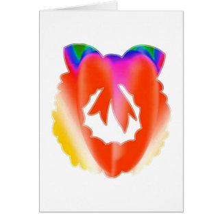 Cartão Grinalda vermelha do dom da jóia do rubi: APRECIE