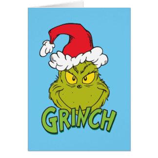 Cartão Grinch clássico | impertinente ou agradável