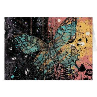Cartão Grunge da borboleta