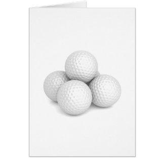 Cartão Grupo de bolas de golfe