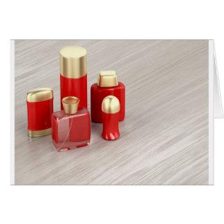 Cartão Grupo dos produtos cosméticos dos homens