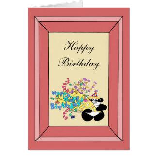 Cartão Grupo inteiro de desejos do feliz aniversario