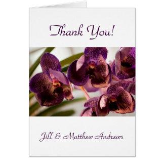 Cartão Grupo puro da flor da cera de Vanda da orquídea