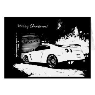 Cartão GTR do feriado do Natal da skyline