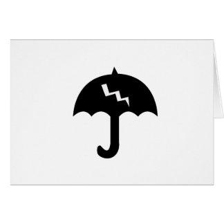 Cartão guarda-chuva e iluminação
