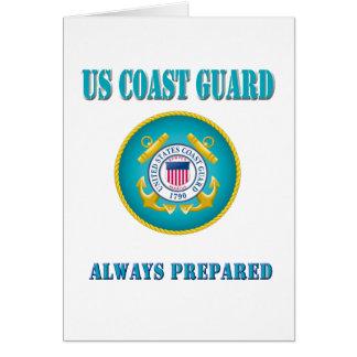 Cartão Guarda costeira dos E.U. preparada sempre