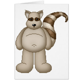 Cartão Guaxinim gordo do bicho de Lura