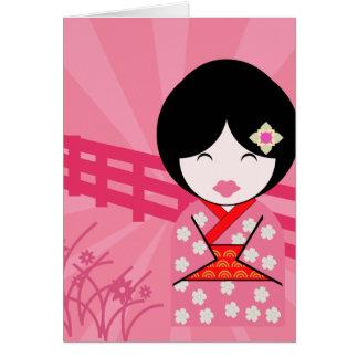 Cartão Gueixa Notecard - vazio