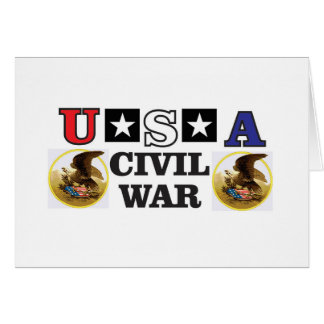 Cartão guerra civil branca e azul vermelha