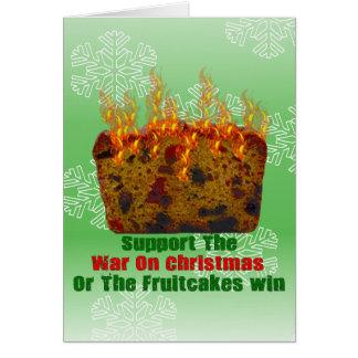 Cartão Guerra em Fruitcakes
