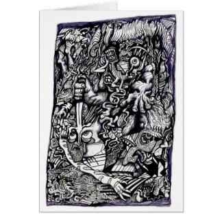 Cartão Guerreiro alfa, por Brian Benson