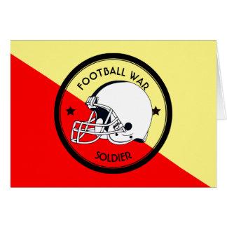 Cartão Guerreiro do futebol