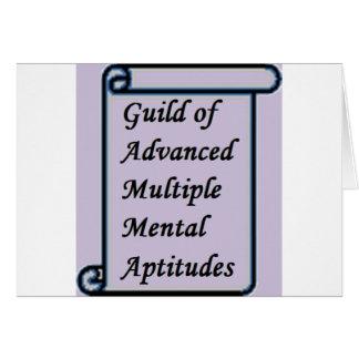 Cartão Guilda de loja mental múltipla avançada das