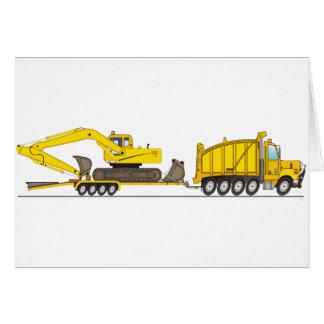 Cartão Guindaste resistente do camião basculante