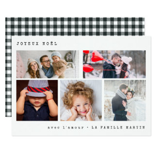 Cartão Guingão preto da colagem | da foto de Joyeux Noel