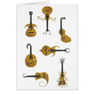 Cartão Guitarra acústicas