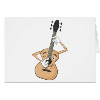 Cartão Guitarra alegre