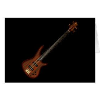 Cartão Guitarra baixa de corda de Fretless 4