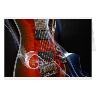 Cartão Guitarra da Sete-Corda das cordas da guitarra oito