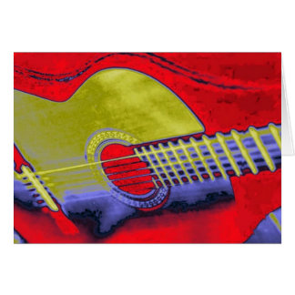 Cartão Guitarra do pop art