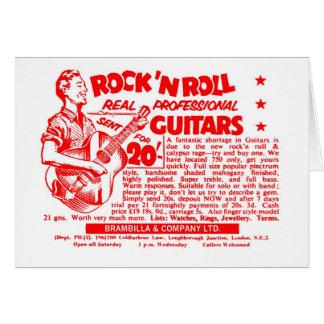 Cartão Guitarra do rolo de N da rocha do vintage do