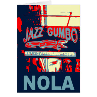 Cartão Gumbo do jazz de Nova Orleães Nola