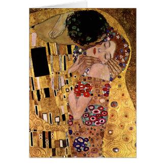 Cartão Gustavo Klimt: O beijo (detalhe)