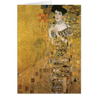 Cartão Gustavo Klimt - retrato do bloco Bauer de Adele