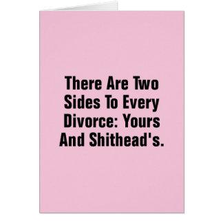 Cartão Há dois lados a cada divórcio…