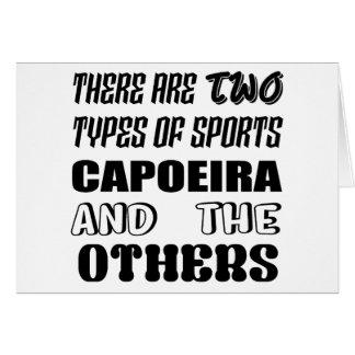 Cartão Há dois tipos de esportes Capoeira e outro