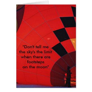 Cartão Há passos na lua