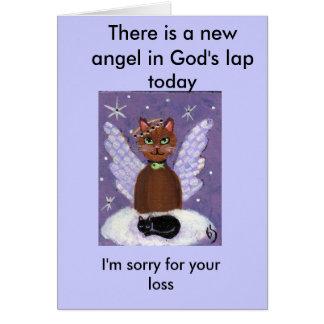 Cartão Há um anjo novo no regaço do deus hoje,…
